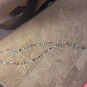 Long spring colored necklace